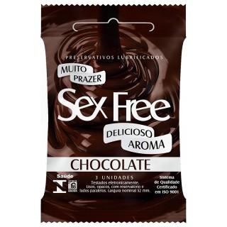 Preservativo Lubrificado Sex Free Aroma Chocolate