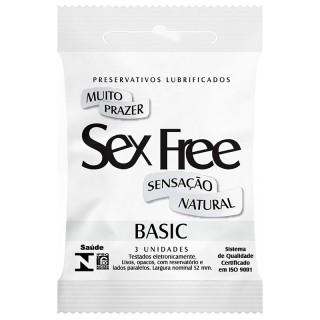Preservativo Lubrificado Sex Free Sensação Natural