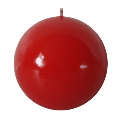 Vela Bola Cor Vermelha 8cm