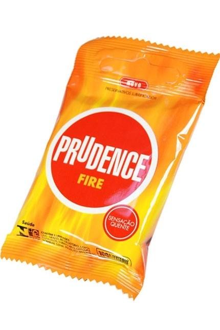 Preservativo Prudence Fire - Com 03 Unidades