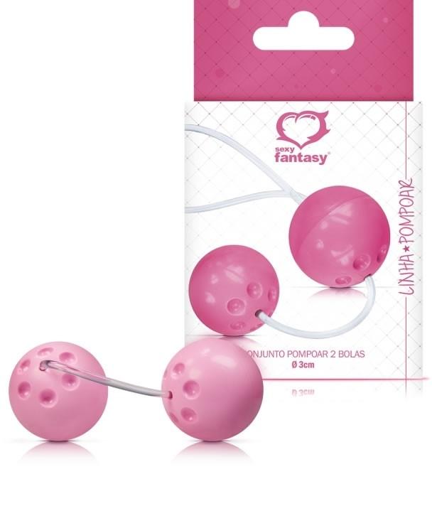 Conjunto 2 Bolas de Pompoar Rosa Pink