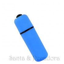 Mini Vibrador Bullet Soft Touch Azul - à Prova D'Água