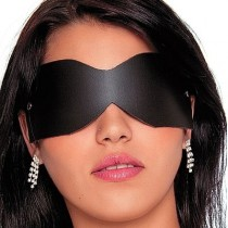Tapa olho em couro na cor preta - Fetiche Playgirl