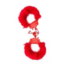 Algema de Metal Vermelha com pelúcia vermelha
