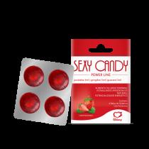 Bala Estimulante Feminina Sexy Candy de Morango