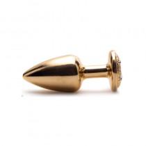 Plug Anal Metal Dourado 6,9 x 2,9cm