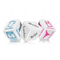 Dado jogo Strip Tease para casal com 3 dados