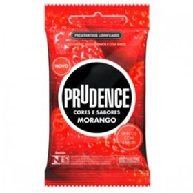 Preservativo Prudence Cores e Sabores Morango - 03 Unidades
